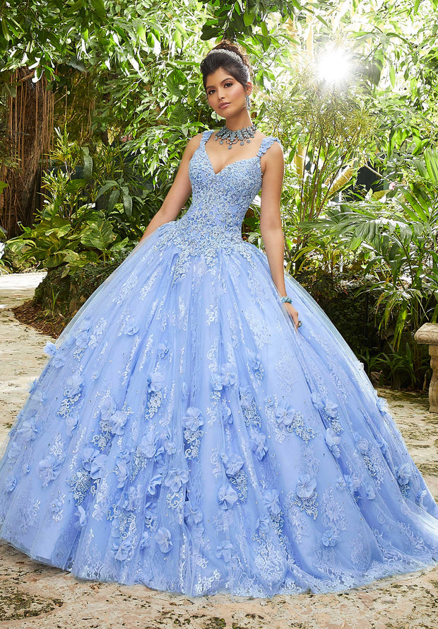 Sleeveless Lace Quinceanera Dress by Mori Lee Vizcaya 89250