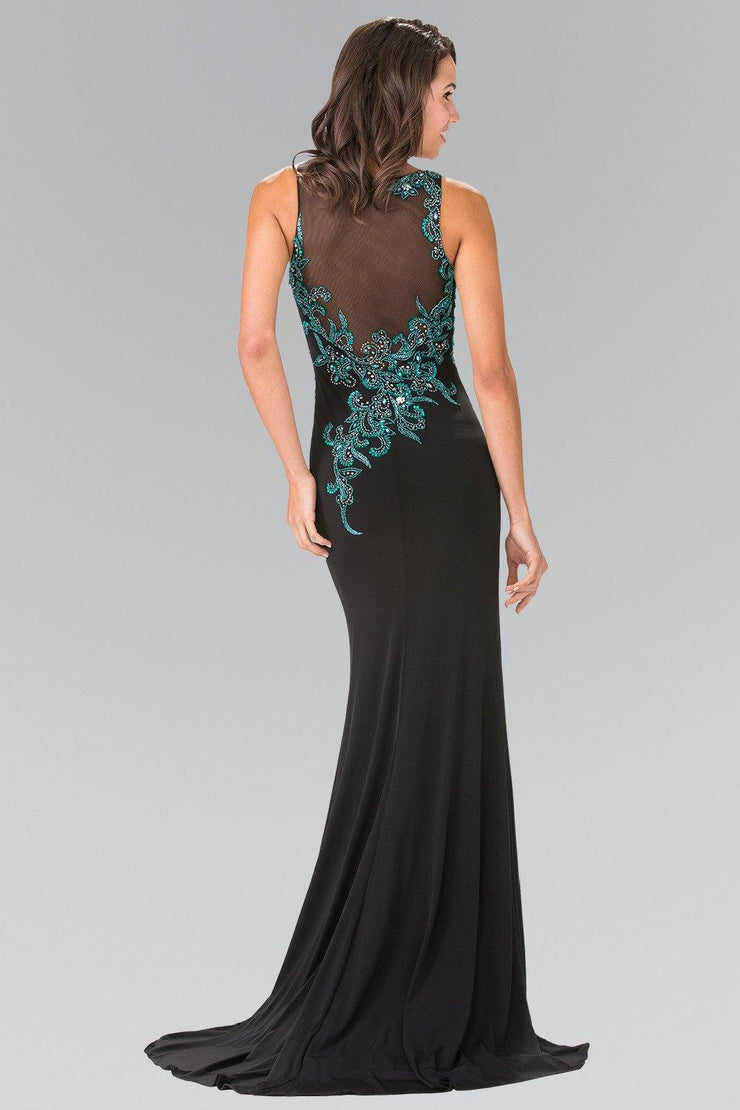 Sleeveless Mermaid Dress with Beaded Embroidery by Elizabeth K GL1471-Long Formal Dresses-ABC Fashion