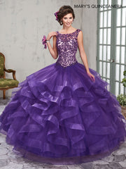 Sleeveless Ruffled Quinceanera Dress by Mary's Bridal M4Q2009-Quinceanera Dresses-ABC Fashion