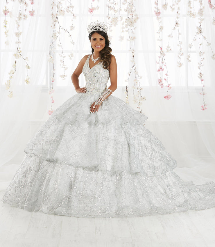 Sleeveless V-Neck Glitter Quinceanera Dress by House of Wu 26921-Quinceanera Dresses-ABC Fashion