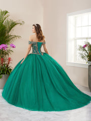 Sparkle Off Shoulder Quinceanera Dress by Fiesta Gowns 56406 (Size 28 - 30)