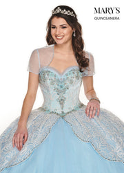 Sparkling Lace Quinceanera Dress by Mary's Bridal MQ2075-Quinceanera Dresses-ABC Fashion