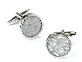 Stainless Steel Round Cufflinks-Men's Cufflinks-ABC Fashion