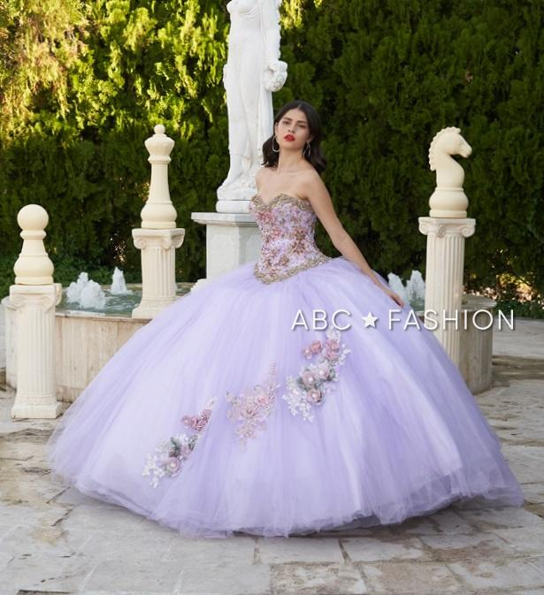 Lilac 2 Piece Quinceanera Dress by Ragazza D36-536