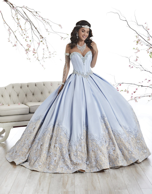 Strapless A-line Satin Quinceanera Dress by House of Wu 26874-Quinceanera Dresses-ABC Fashion