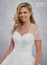 Strapless Applique Wedding Dress by Mary's Bridal MB6032