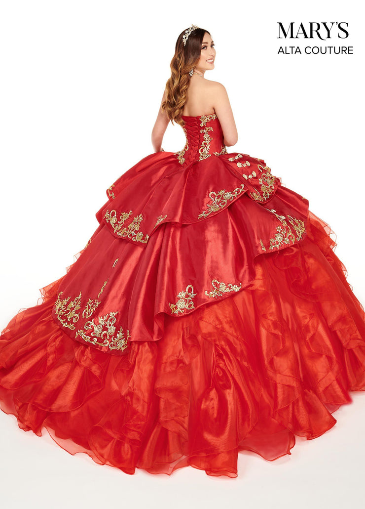 Strapless Charro Quinceanera Dress by Alta Couture MQ3049-Quinceanera Dresses-ABC Fashion