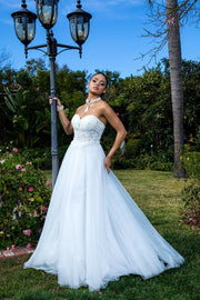 Strapless Corset Wedding Dress by Elizabeth K GL1900