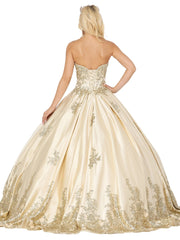 Strapless Embellished Ball Gown by Dancing Queen 1516