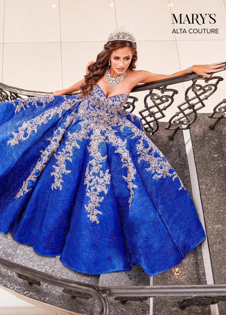 Strapless Glitter Quinceanera Dress by Alta Couture MQ3048-Quinceanera Dresses-ABC Fashion