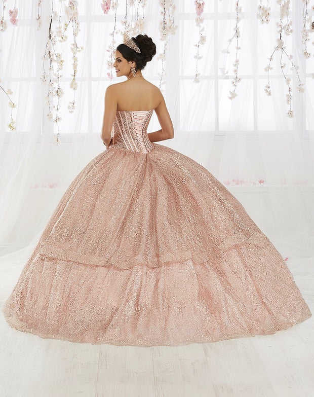 Strapless Glitter Quinceanera Dress by House of Wu 26923-Quinceanera Dresses-ABC Fashion