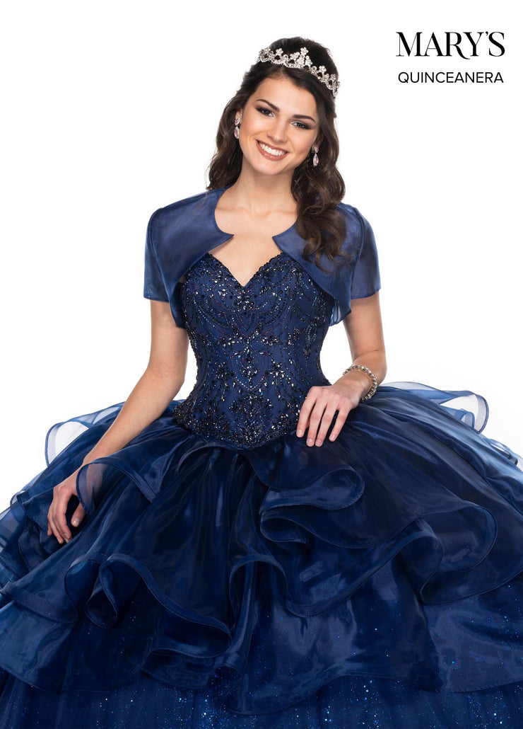 Strapless Glitter Quinceanera Dress by Mary's Bridal MQ2073-Quinceanera Dresses-ABC Fashion
