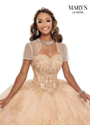 Strapless Lace Quinceanera Dress by Mary's Bridal MQ2114-Quinceanera Dresses-ABC Fashion