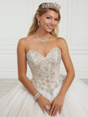 Strapless Quinceanera Dress by Fiesta Gowns 56415 (Size 10 - 16)