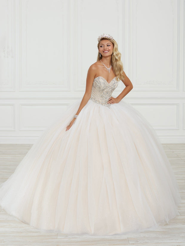 Strapless Quinceanera Dress by Fiesta Gowns 56415 (Size 18 - 22)