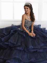 Strapless Ruffled Quinceanera Dress by House of Wu 26891-Quinceanera Dresses-ABC Fashion