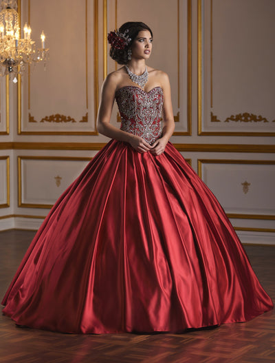 Strapless Satin Quinceanera Dress by Fiesta Gowns 56376-Quinceanera Dresses-ABC Fashion