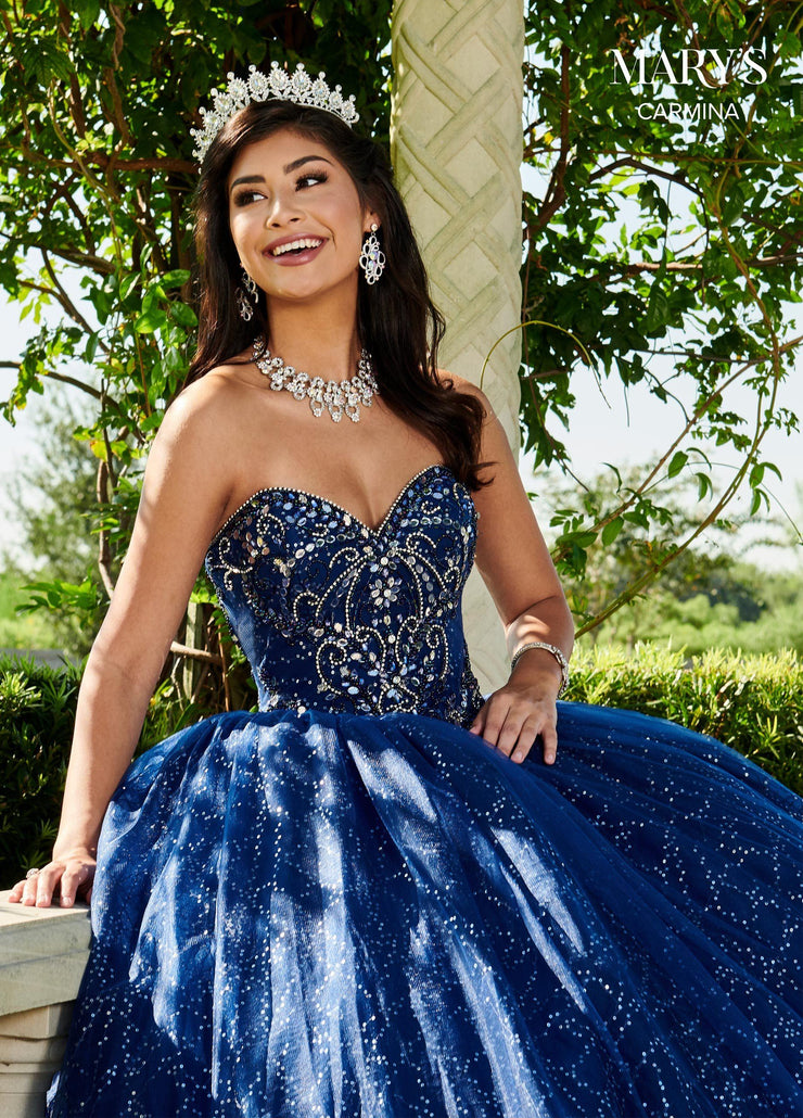 Strapless Sequin Quinceanera Dress by Mary's Bridal MQ1060-Quinceanera Dresses-ABC Fashion