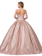 Strapless Sweetheart Glitter Ball Gown by Dancing Queen 1341