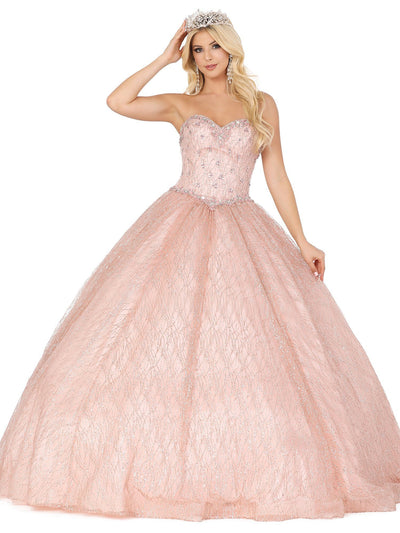 Strapless Sweetheart Glitter Ball Gown by Dancing Queen 1402