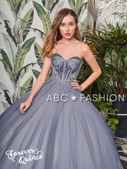 Strapless Sweetheart Quinceanera Dress by Forever Quince FQ786-Quinceanera Dresses-ABC Fashion