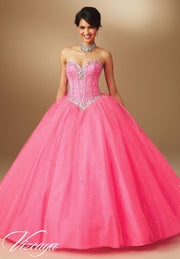 Strapless Sweetheart Quinceanera Dress by Mori Lee Vizcaya 89017-Quinceanera Dresses-ABC Fashion