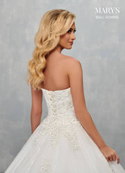 Strapless Wedding Ball Gown by Mary's Bridal MB6073