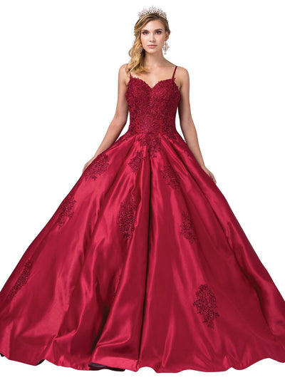 Sweetheart Ball Gown with Lace Appliques by Dancing Queen 1325