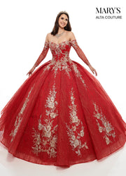 Sweetheart Glitter Quinceanera Dress by Alta Couture MQ3046-Quinceanera Dresses-ABC Fashion