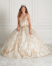 Sweetheart Glitter Quinceanera Dress by Fiesta Gowns 56387-Quinceanera Dresses-ABC Fashion