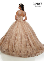 Sweetheart Glitter Quinceanera Dress by Mary's Bridal MQ1067-Quinceanera Dresses-ABC Fashion