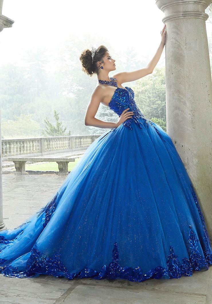 Sweetheart Glitter Quinceanera Dress by Mori Lee Valencia 60110-Quinceanera Dresses-ABC Fashion