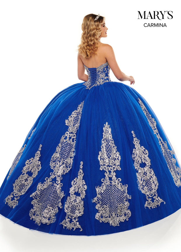 Sweetheart Glitter Tulle Quinceanera Dress by Mary's Bridal MQ1068