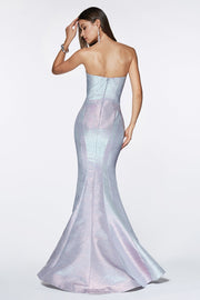 Sweetheart Iridescent Mermaid Dress by Cinderella Divine CR824-Long Formal Dresses-ABC Fashion