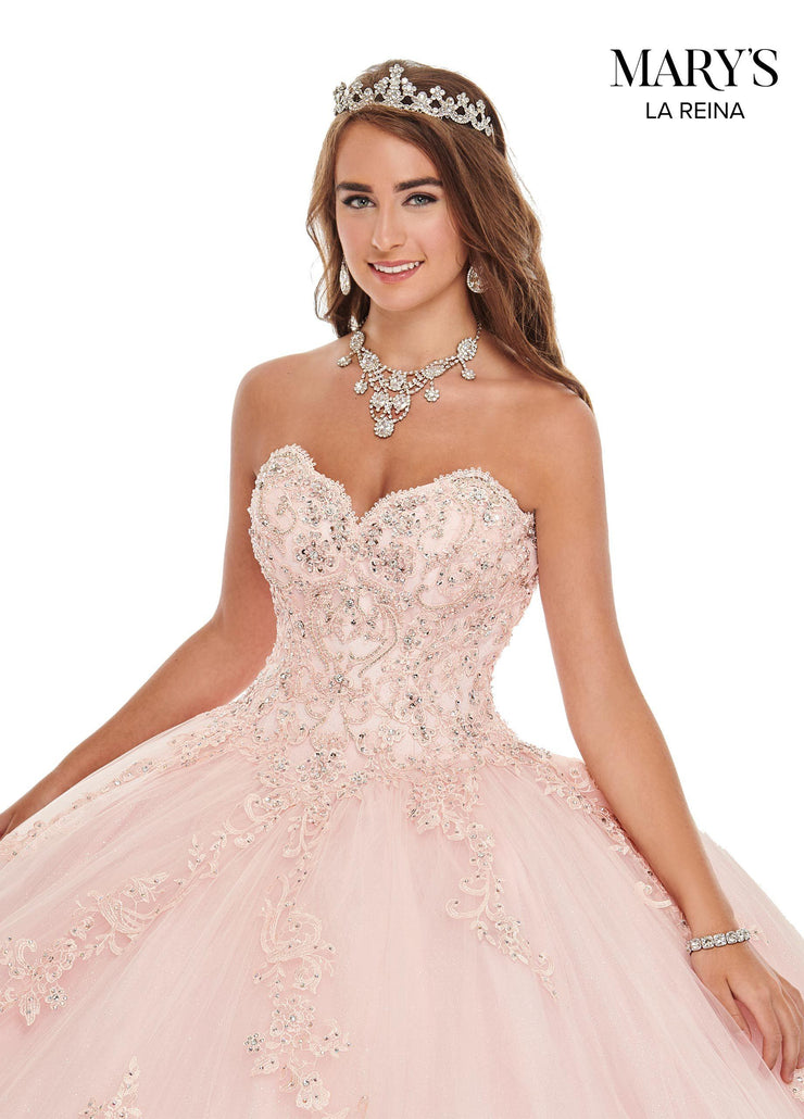 Sweetheart Lace Quinceanera Dress by Mary's Bridal MQ2104-Quinceanera Dresses-ABC Fashion