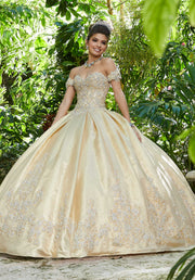 Sweetheart Taffeta Quinceanera Dress by Mori Lee Vizcaya 89242