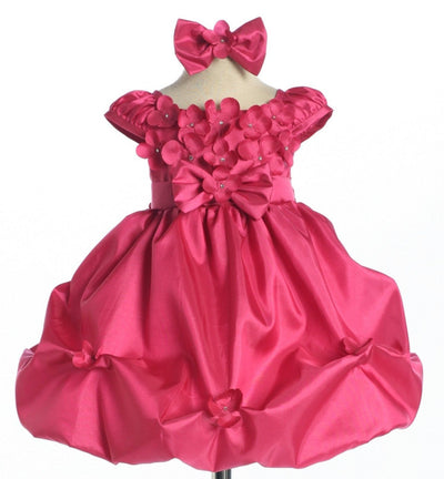 Taffeta Baby Girls Dresses with Pickup Skirt - 6 Colors-Girls Formal Dresses-ABC Fashion
