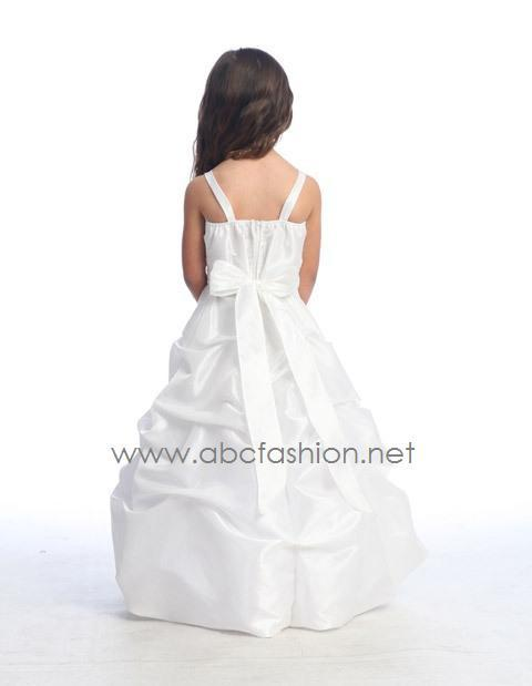 Taffeta Pick-Up Flower Girl Dress-Girls Formal Dresses-ABC Fashion