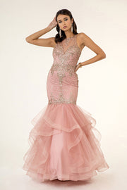 Tiered Glitter Mermaid Dress by Elizabeth K GL1822