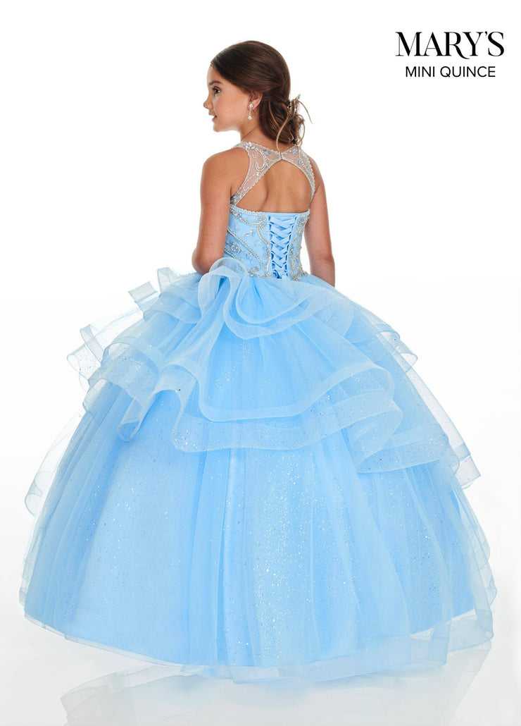 Tiered Halter Quinceanera Dress by Mary's Bridal MQ1058