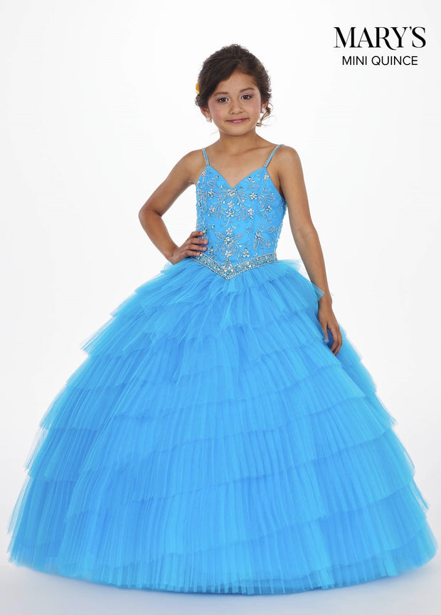 Tiered Sweetheart Quinceanera Dress by Mary's Bridal MQ2055-Quinceanera Dresses-ABC Fashion