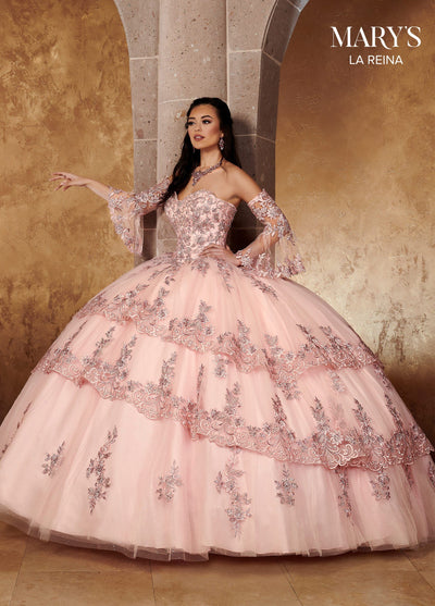 Tiered Sweetheart Quinceanera Dress by Mary's Bridal MQ2118