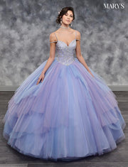 Tiered Two-Tone Quinceanera Dress by Mary's Bridal MQ2038