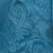 Turquoise Paisley Bow Ties with Matching Pocket Squares-Men's Bow Ties-ABC Fashion