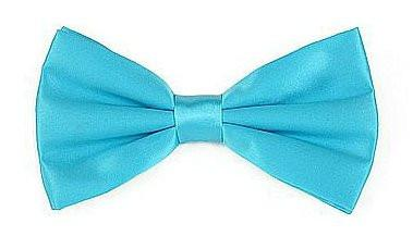 Turquoise Silk Bow Ties-Men's Bow Ties-ABC Fashion