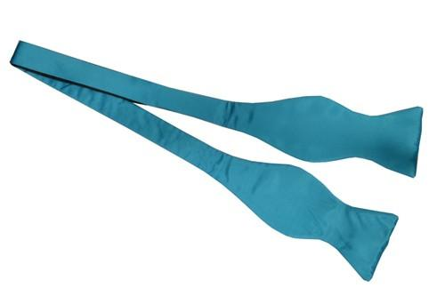 Turquoise Silk Self Tie Bow Ties-Men's Bow Ties-ABC Fashion