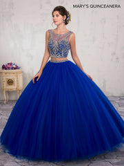 Two-Piece Crop Top Quinceanera Dress by Mary's Bridal M4Q2005-Quinceanera Dresses-ABC Fashion