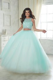 Two Piece Lace Applique Dress by House of Wu Fiesta Gowns Style 56317-Quinceanera Dresses-ABC Fashion