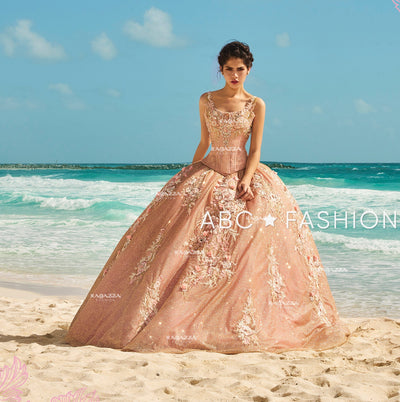 Two-Piece Rose Gold Quinceanera Dress by Ragazza Fashion D12-512-Quinceanera Dresses-ABC Fashion