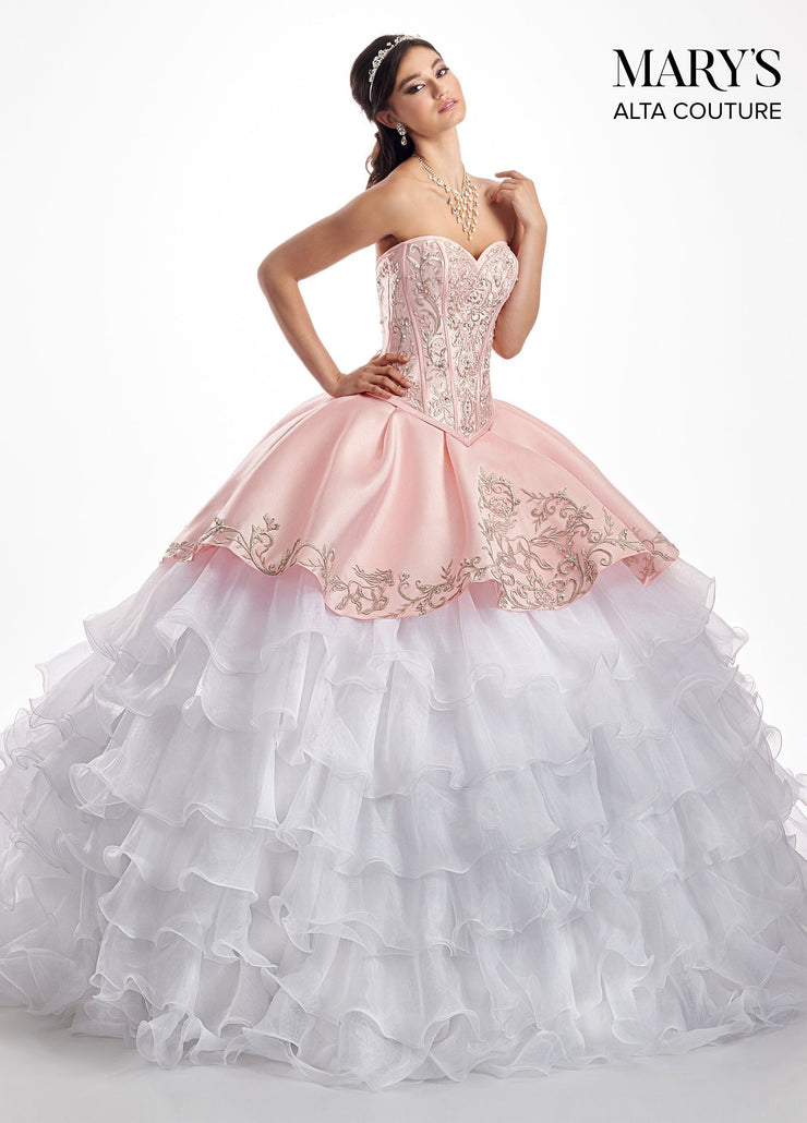 Two-Piece Ruffled Charro Quinceanera Dress by Alta Couture MQ3026-Quinceanera Dresses-ABC Fashion